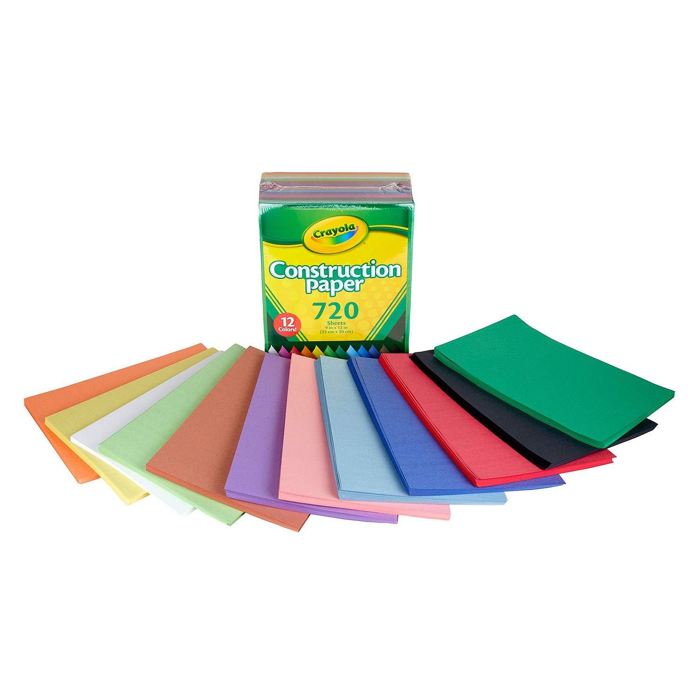 Crayola Bulk Construction Paper 720 ct. 12 Assorted Colors 4336873328