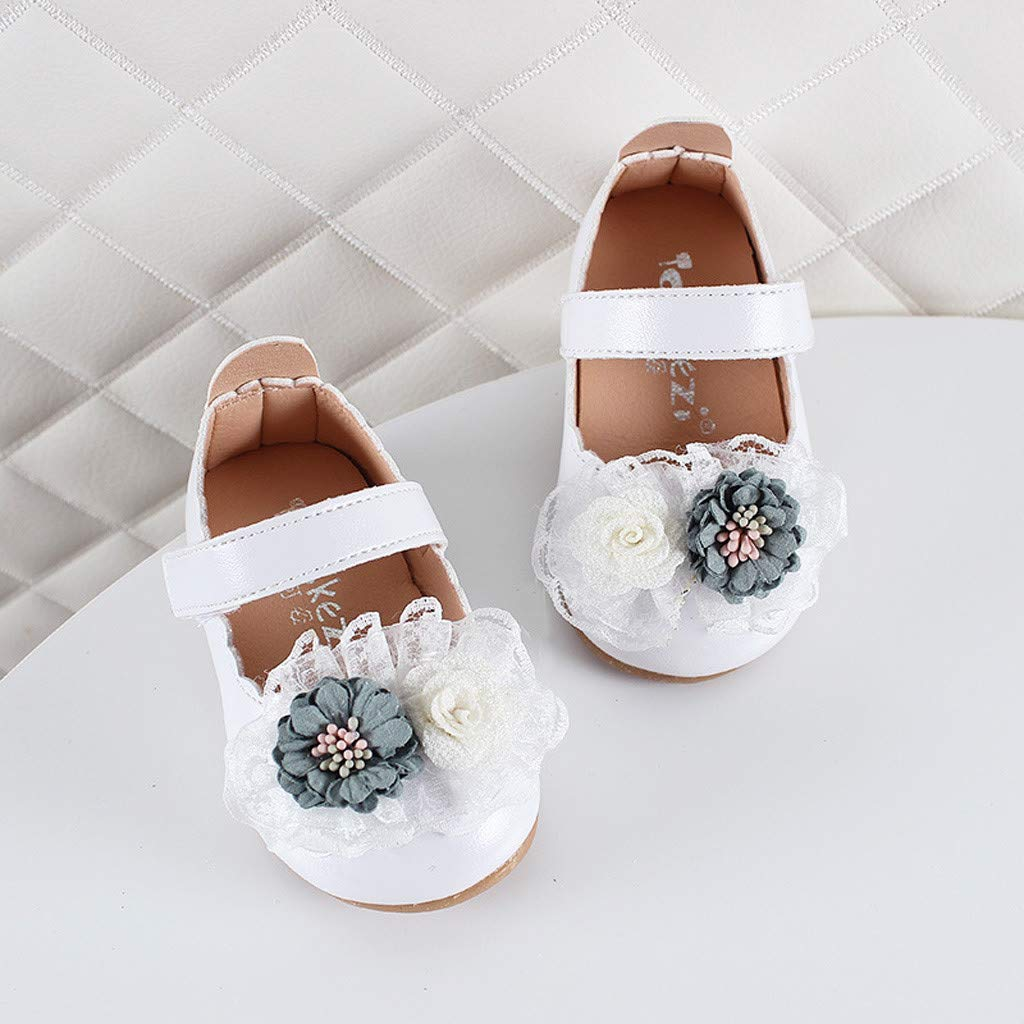 DORIC Toddler Infant Kids Baby Girls Elegant Flower Single Princess Shoes Sandals Newborn