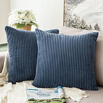 MIULEE Corduroy Soft Soild Decorative Square Throw Pillow Covers Cushion Cases PillowCases