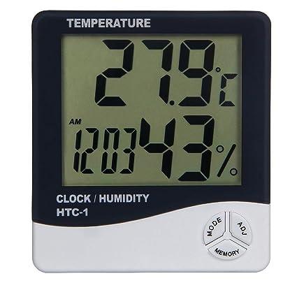 Aulola 3-in-1 Digital con pantalla LCD de temperatura termómetro higrómetro/despertadores