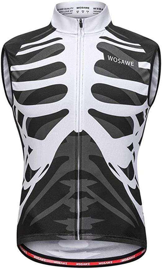 Unisex Windproof Vest Breathable Reflective Cycling MTB Bike Vest Sleeveless