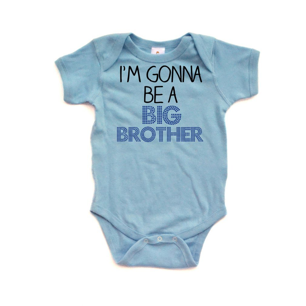 Apericots I'm Gonna Be a Big Brother Short Sleeve Baby Bodysuit