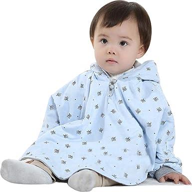 Baby Kids Warm Hood Cape Coat Anti Cold Wind Poncho Hoodie Coat