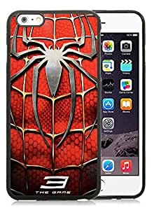 Beautiful Designed Cover Case With Spider man AA 30 Black Phone Case for iPhone 6 plus 5.5 inch