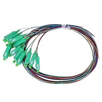 Amazon Com Fiber Pigtail Cable Sc Apc Single Mode Pigtail 12 Cores Fiber Patch Cable For Optical Fiber Local Area Networks Industrial Scientific