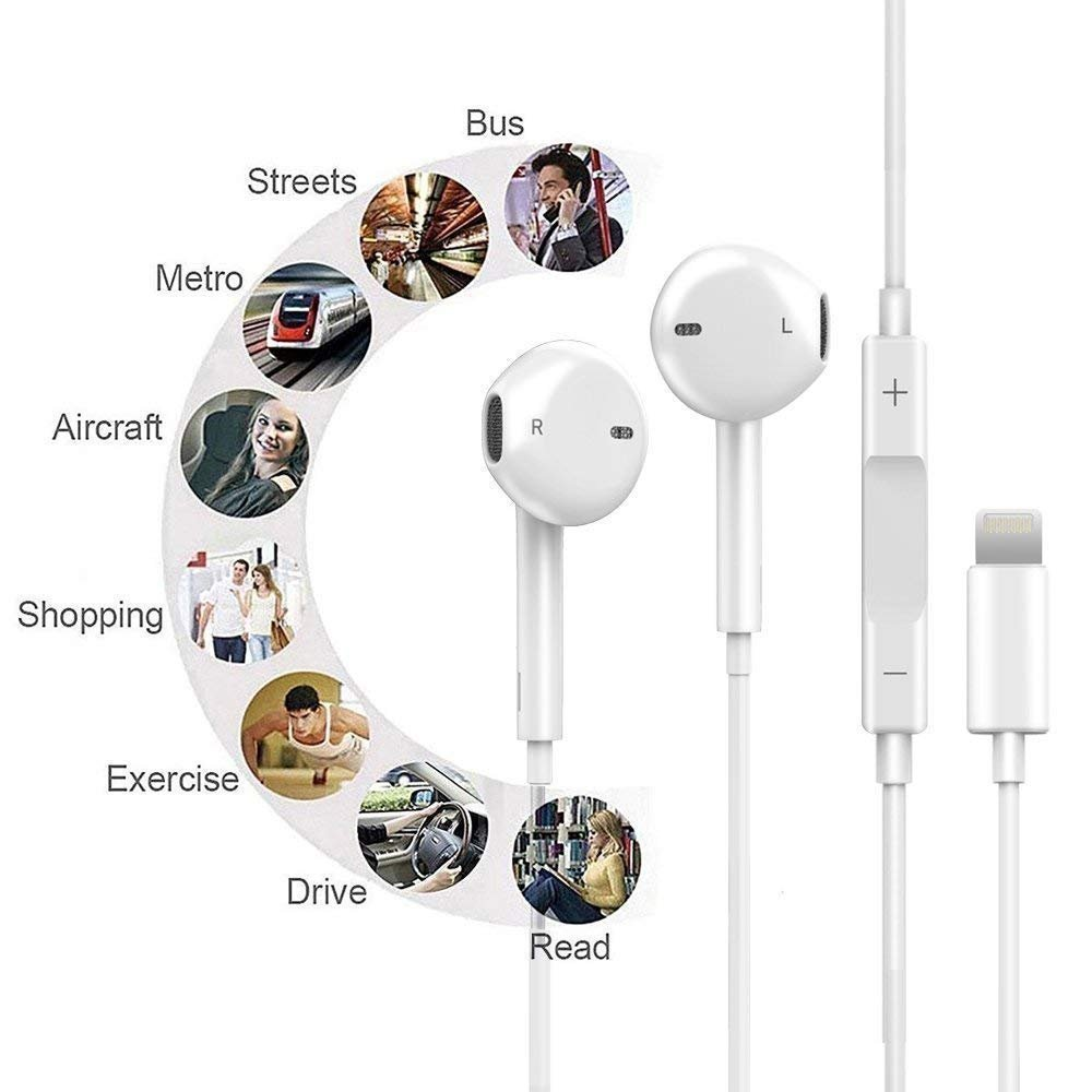 Lightning Earphones,With Microphone Earbuds Stereo Headphones and Noise Isolating headset Made for iPhone 7/7 Plus iPhone8/8Plus iPhone X Earphones,Support all iOS system by my-handy-design (Image #3)