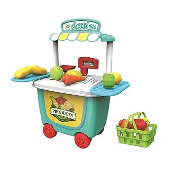 Vosarea Carrito de Juegos para Cocinar para Niños Juguetes de Aprendizaje (Supermercado): Amazon.es: Juguetes y juegos