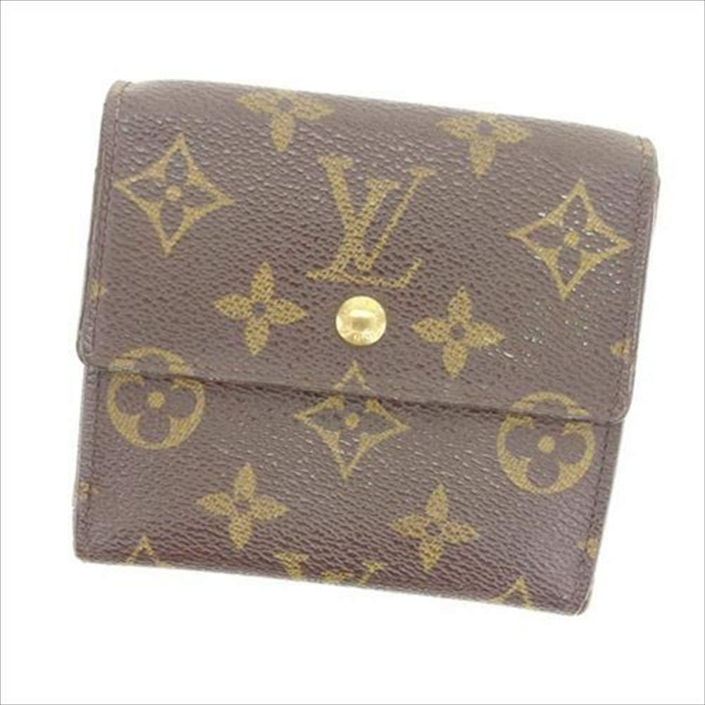 ルイヴィトン Louis Vuitton Wホック財布 三つ折り メンズ可 ポルトモネビエカルトクレディ M61652 モノグラム 中古 T12889   B07R67KS2N