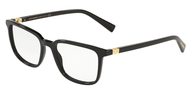 6b352a9957f4 Amazon.com: Dolce & Gabbana DG SECRET DG 3304 BLACK 54/19/145 men eyewear  frame: Clothing