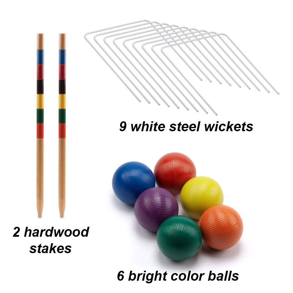 GSE Games & Sports Expert Premium 6-Player Croquet Set for Adults & Kids (Several Styles Available) (Classic) by GSE Games & Sports Expert (Image #3)