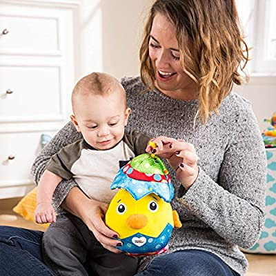 LAMAZE - Hatching Henry Toy, Help Baby Play Peekaboo, Learn with Touch and Sound with Fun Sounds, Bright Colors, and Interesting Textures, 6 Months and Older : Baby