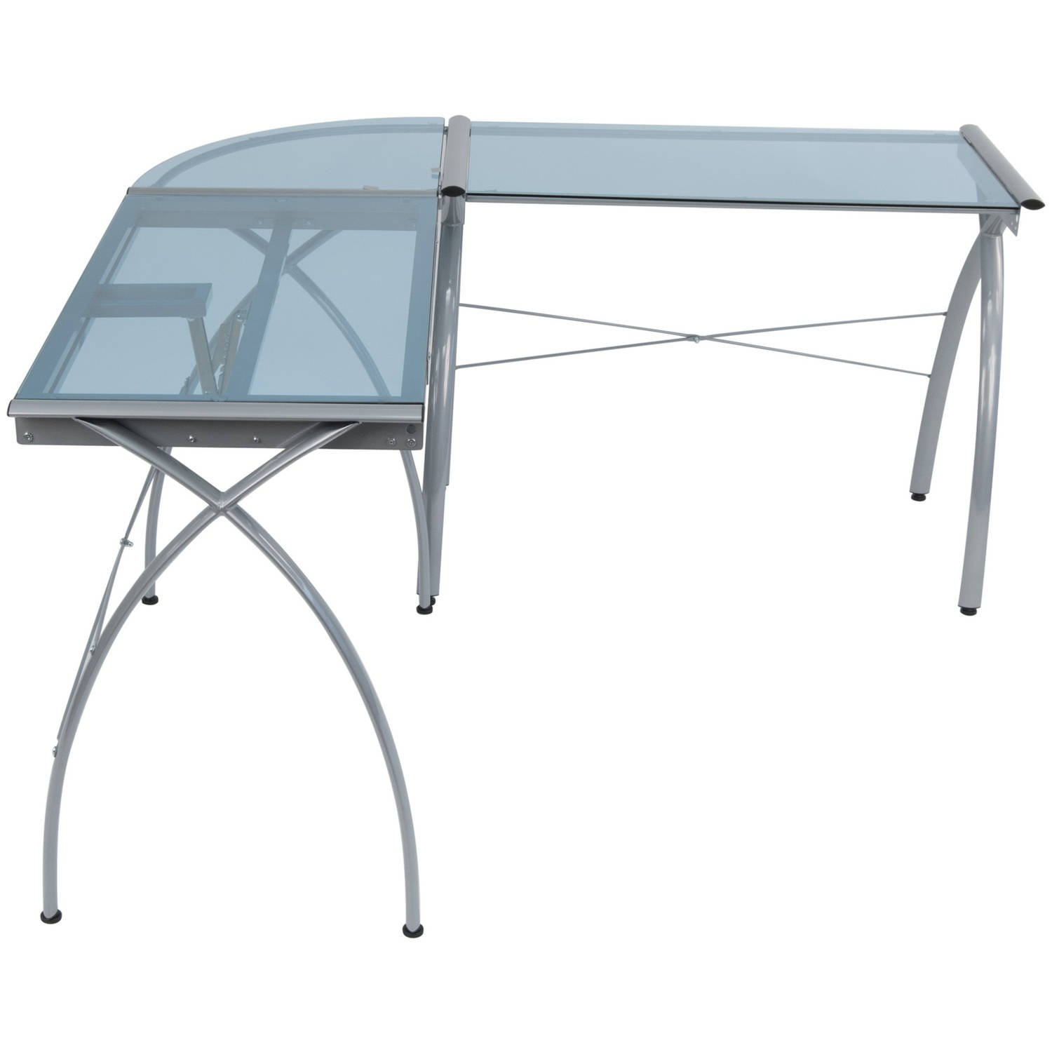 Corner Desk Drafting Table, L Shaped, Workstation, Adjustable Split Top, Functional, Suitable for Home Office, Art Student, Work and Craft Furniture + Expert Guide by Care 4 Home LLC (Image #4)