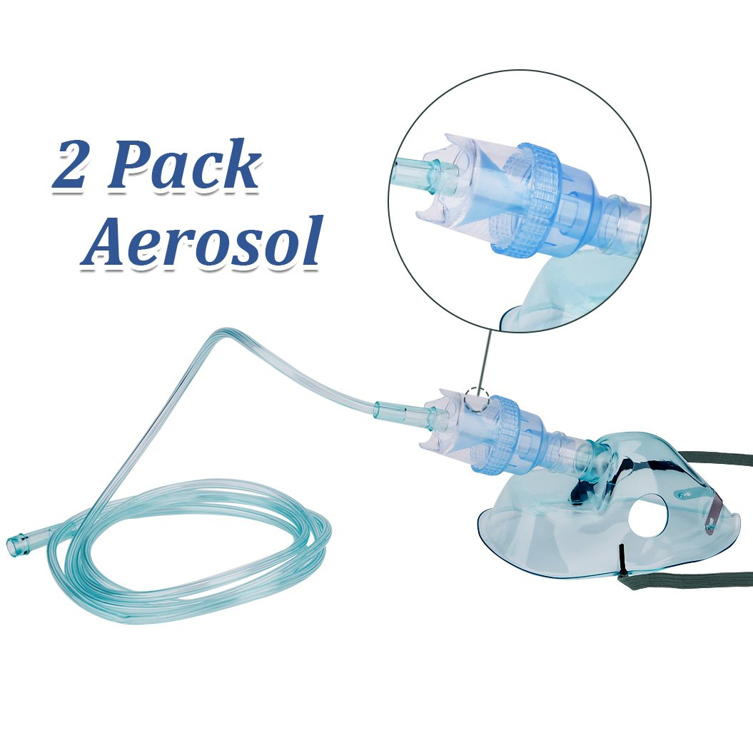Healva Atomizer Mask with Long Tubing-Pack of 2