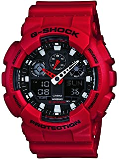 3b756cd00d7f Casio Men s XL Series G-Shock Quartz 200M WR Shock Resistant Resin Color   Red