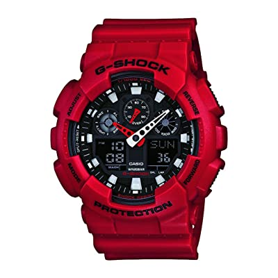 Red body, black dial