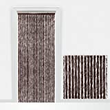 Rideau de porte - Chenilles - Marron - Anti-insecte - 90x210cm ajustable - 5515092 - Made in Italy
