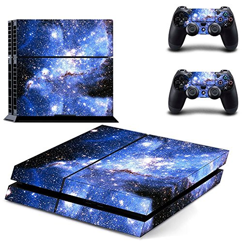 UUShop Starry Sky Galaxy Vinyl Skin Decal Cover for Sony PlayStation 4 PS4 Console Sticker