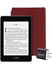 Kindle Paperwhite Essentials Bundle including Kindle Paperwhite - Wifi with Special Offers, Amazon Leather Cover, and...