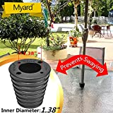 MYARD Umbrella Cone Wedge for Patio Table Hole Opening 1.8 to 2.4 Inch, Umbrella Pole Diameter 1 3/8 (35mm), Black
