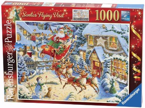 Ravensburger 2010 Christmas Puzzle Santa's Flying Visit Puzzle ...