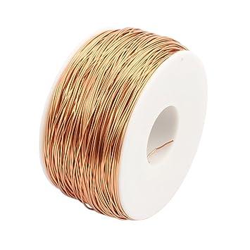 Sourcingmap - 0,6 mm recto tipo de soldadura esmaltado alambre de cobre redondo puro suave: Amazon.es: Bricolaje y herramientas