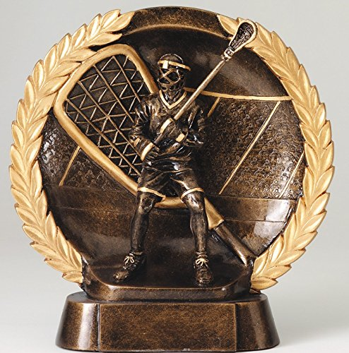 The Trophy Studio Resin Plate Lacrosse 7 1/2''tall by The Trophy Studio