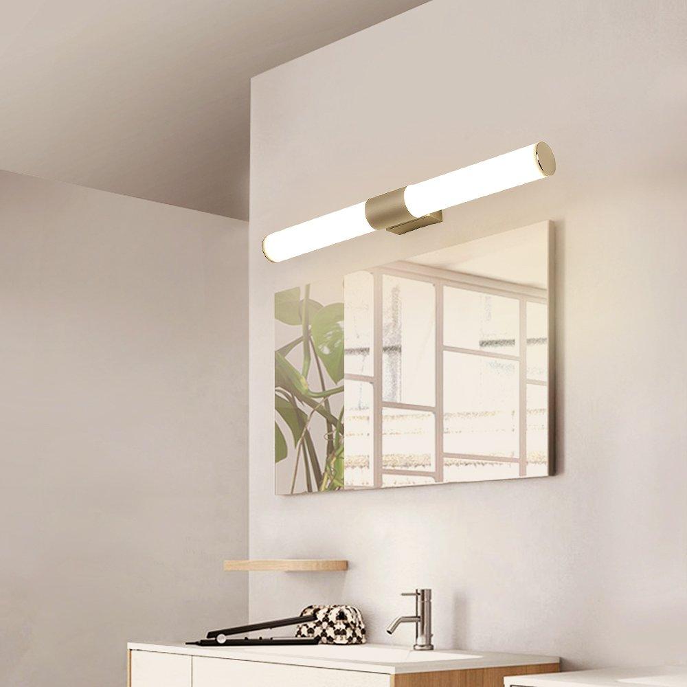 Vanity Light Bathroom Led Wall White Acrylic Round Cool 6000 K Goobi Lighting 16w 15 7inches Com