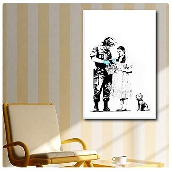 Amazon.com: Alonline Art Banksy Soldier Searching Girl Banksy POSTER ...
