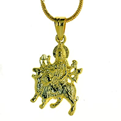 Buy dijyo durga ji pendant 24k gold plated gp170 online at low dijyo durga ji pendant 24k gold plated gp170 mozeypictures Image collections