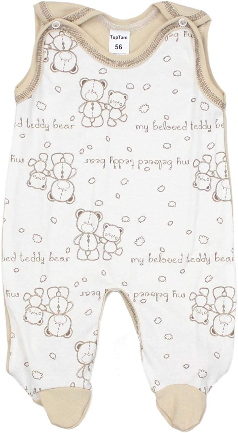 TupTam Baby Rompers Sleeveless with All-Over Print Pack of 2