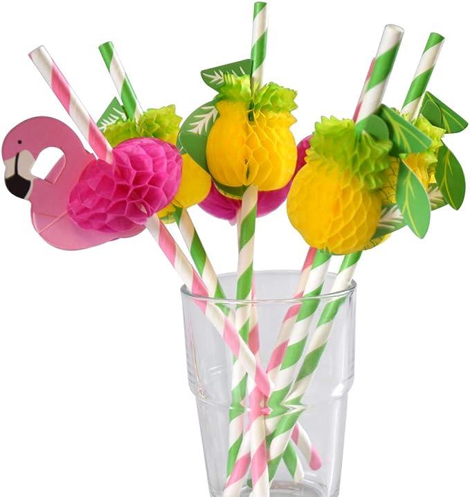 50 Pineapple Paper Straws