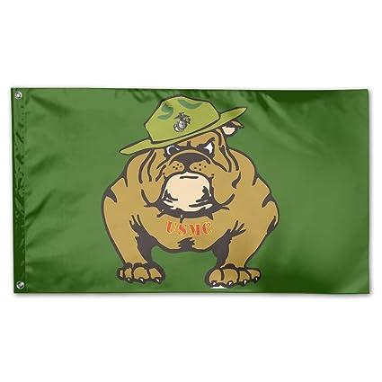 Amazon.com : AERYUHPP Marine Corps Bulldog USMC Logo Garden Flag ...