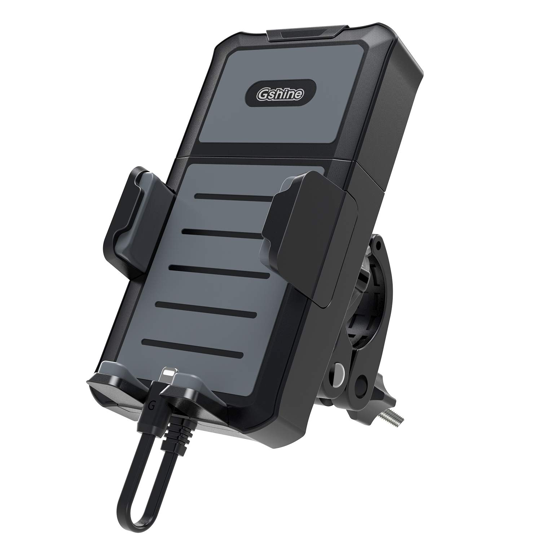 Blueshadow universel support pour téléphone portable et 5200mAh banque d'alimentation amovible 2en 1sur vélo, moto pour tous les smartphones, GoPro et GPS Navigation entre 4–15,2cm avec rotation à 1