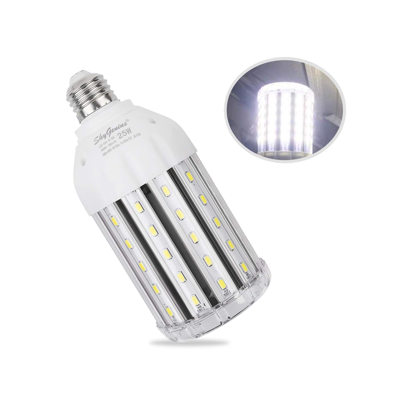 Auzer 45W LED Corn Light Bulb LED Corn Bulb for Indoor Outdoor Large Area Garage Factory Warehouse High Bay /… E26 Base 6500K Daylight Cool White 4500-Lumen 300W Equivalent AC 85V-265V