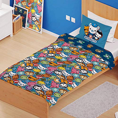 Octonauts 'Shark Mission' Single Panel Duvet Cover Reversible Bedding Set (Junior Cot Duvet Cover) -