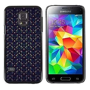 iKiki Tech / Estuche rígido - Checkered Blue Vintage Wallpaper Pattern - Samsung Galaxy S5 Mini, SM-G800, NOT S5 REGULAR!