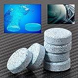 Tabletas efervescentes, agente de limpieza detergente para sistemas de limpiaparabrisas de coche 6 Unids/set, Car Windshield Glass Washer Cleaner Compacto