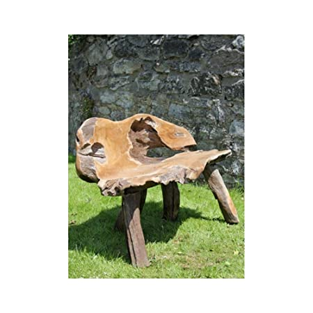 Pleasing Hand Carved Solid Teak Root Bench Chair Trb550 Siiren Squirreltailoven Fun Painted Chair Ideas Images Squirreltailovenorg