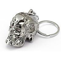 Metal Keychain with Terminator Skull Schlüsselanhänger, 2 Pieces