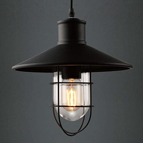 Estilo Industrial jaula lámpara de techo, sol Run creativa ...
