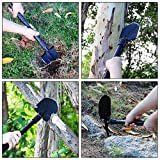 Military Portable Folding Shovel Alloy Anti-slip Handle Entrenching Tool for Camping, Hunting, Hiking, Fishing, Garden, Car Emergency