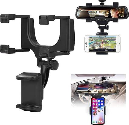 Gsjdd Rückspiegel Telefonhalter Universal Auto Autotelefonhalterung Halter Wiege Für Handy Gps Elektronik
