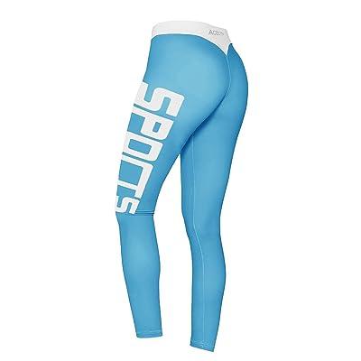 ec5fb2eba44ec Luluka Women's Sports Compression Yoga Capris Thigh Slimming Workout  Fitness Leggings Yoga Pants