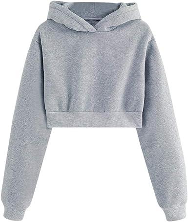 Womens Ladies Long Sleeve Hooded T-Shirt Hoodie Hoody Top Long Sleeved Tee Shirt