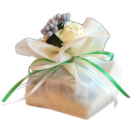 Doitsa 1 pcs regalo bolsa boda requisitos Azúcar Bolsa Boda Fiesta Schöne bolsitas dulces Toalla bolsillos