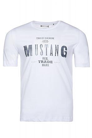 Mustang T Shirt Herren Shirt Rundhals Shirt True Denim Freizeitshirt