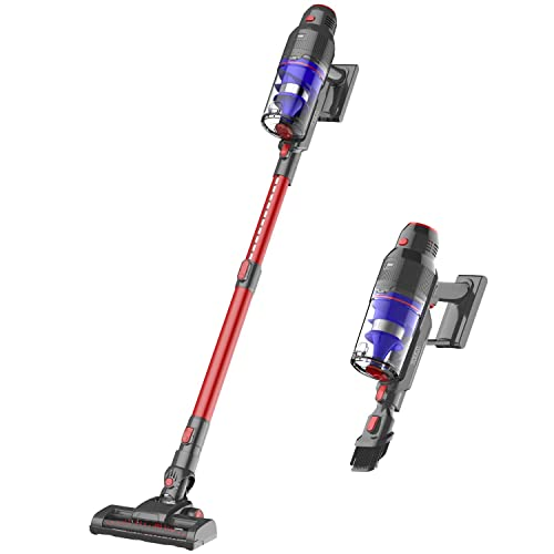 WOWGO Cordless Stick Vacuum Cleaner - 22Kpa Powerful Suction Handheld Vacuum with Adjustable Tube and HEPA Filter for Hard Floor, Carpet and Car