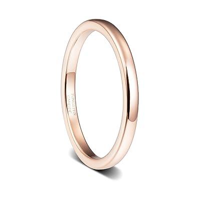 Amazon.com: Anillo de compromiso para mujer, chapado en oro ...