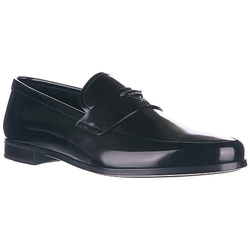 Prada Mocasines en Piel Hombres Spazzolato Fume Negro EU 44 2DE087P39F0002: Amazon.es: Zapatos y complementos