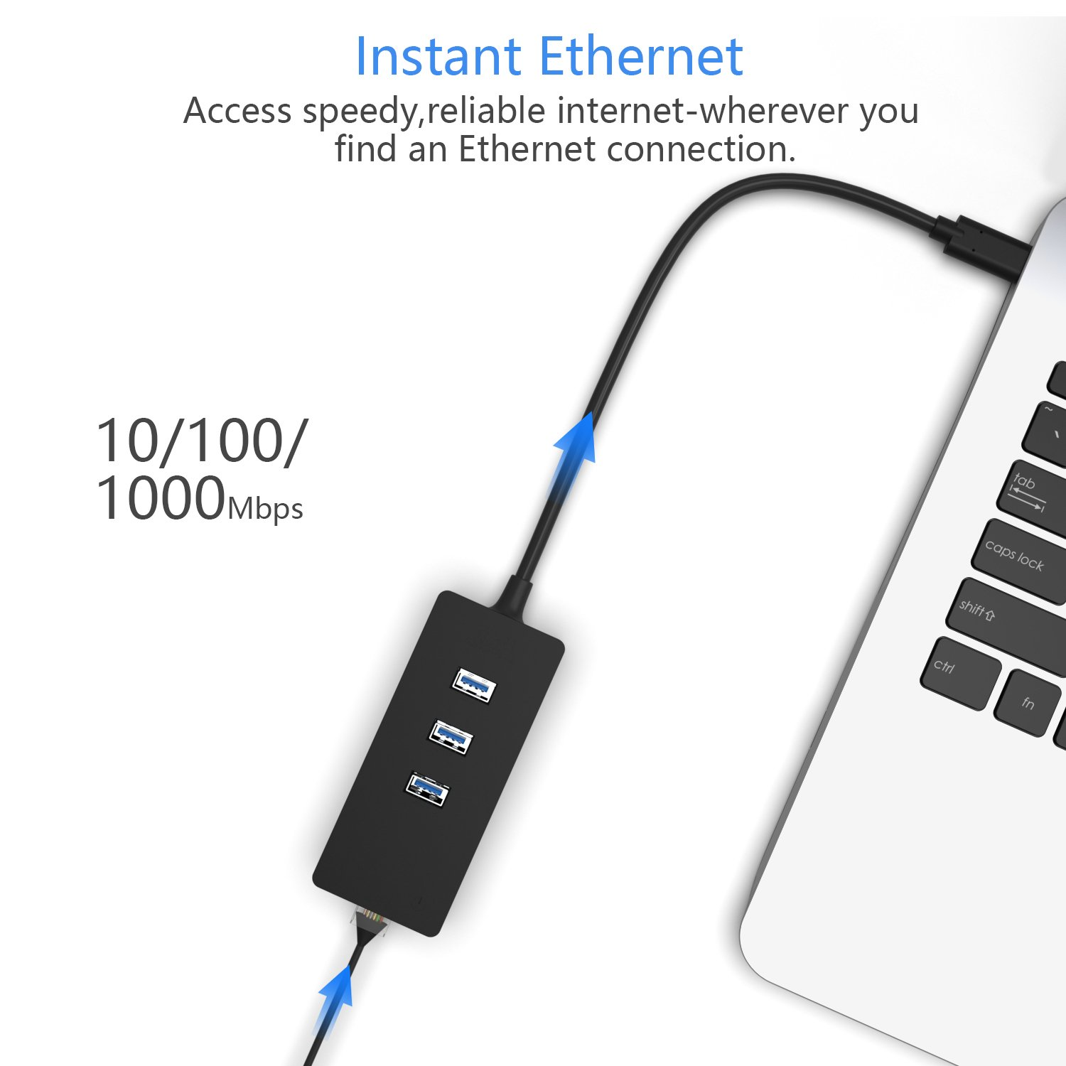 for Android tv box,MacBook,MacBook Air Surface 3//Pro 3//Pro4//Pro 6 and More Other PCs ICZI 3-Port USB 3.0 Hub with 10//100//1000 Gigabit Ethernet LAN Network Adapter RJ45 Gigabit Ethernet Converter USB 3.0 Hub